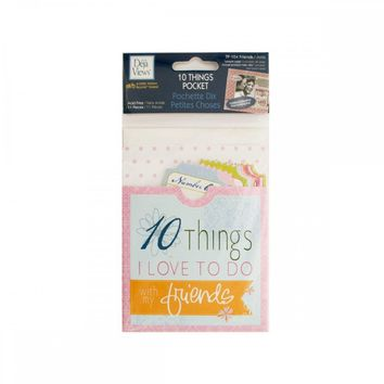 10 Things Friends Journaling Pocket CG590