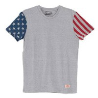 Brooklyn Cloth American Flag Sleeve T-Shirt for Men BST5733M