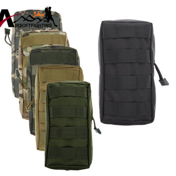 Tactical Military 600D 21X11.5CM MOLLE Utility Tactical Vest Waist Pouch Bag Wasit Pack Equipment for Outdoor Hunting
