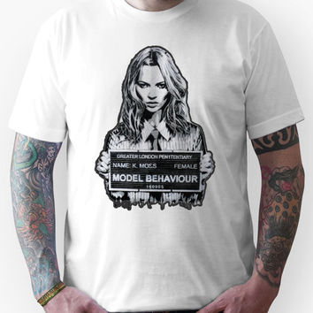 Kate Moss Stencil from London Unisex T-Shirt