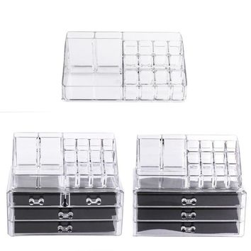Portable Acrylic Makeup Organizer Storage Box