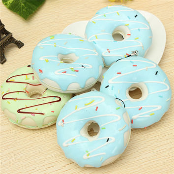 Best Price kawaii squishies Jumbo 8.5CM Charming Chocolate Donut Cream Scented Simulation Food Phone Strap as presents