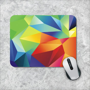 Geometric Mousepad, Custom Mousepad, Rainbow Mouse Pad, Colorfull Mouse Mat, Personalized Computer Accessories, Custom Mouse Pad