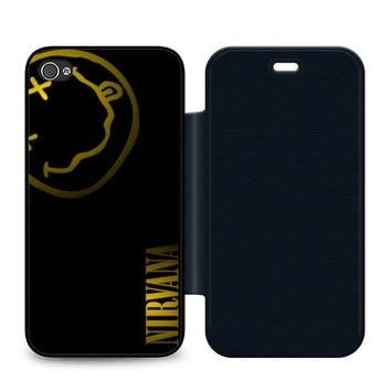 Nirvana Art Leather Wallet Flip Case iPhone 4 | 4S