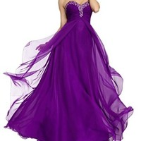 ZYJdress Chiffon Prom Dresses Floor Length Party Gowns 2014