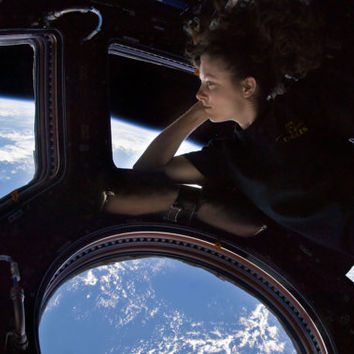 Tracy Dyson viewing Earth from the ISS- International Space Station   Photograph Print -Photo  Print Reproduction