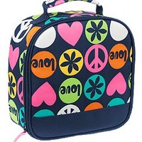 Peace Love Hearts Lunchbox