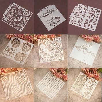 Many Beautiful Design Sticker Painting Stencil DIY Home Cake Decor Planner Scrapbooking Album Crafts Arts Template Decoration