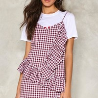 On Your Checklist Gingham Dress
