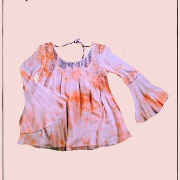 Chelsea and Violet  hippie top - beautiful peaches and cream -  have a size  small and a size large