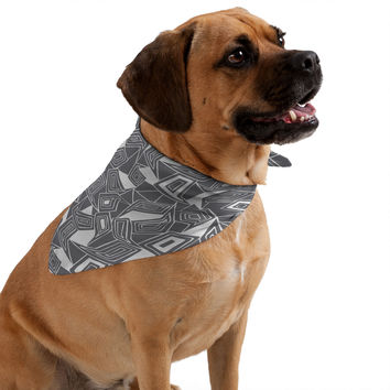 Heather Dutton Fragmented Grey Pet Bandana