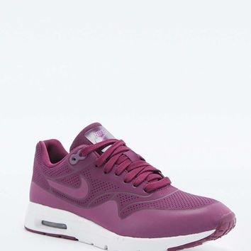 Nike Air Max 1 Burgundy Ultra Moire Trainers - Urban Outfitters