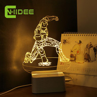 CNHIDEE USB Novelty Modern Home Decor Little iron Man 3D Night Lights Dimmable Table Lamp as Creative Gifts for CHildren