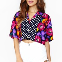 Wild Flower Crop Blouse