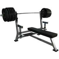 Valor Fitness Olympic Bench Pro with spotter