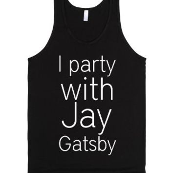 Party with Jay Gatsby Tank-Unisex Black Tank
