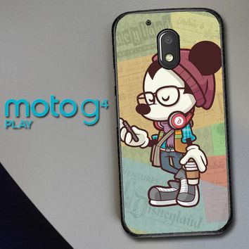 Hipster Mickey Mouse L1579 Motorola Moto G4 Play Case