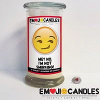 Me? No I'm Not Smirking! - Emoji Candles