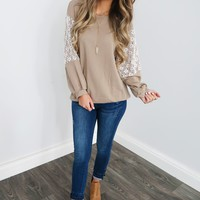 The Choice Is Yours Top: Mocha/Ivory
