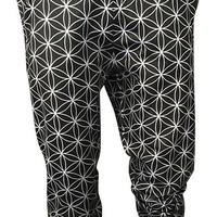 Flower of Life (Black and Silver) Joggers