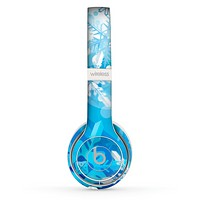 The Winter Abstract Blue Skin Set for the Beats by Dre Solo 2 Wireless Headphones
