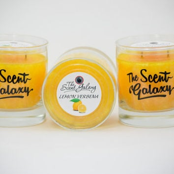 Lemon Verbena Fragrance in Palm Wax , Highly Scented Candle