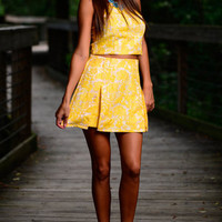 Wild Lace Skirt, Yellow