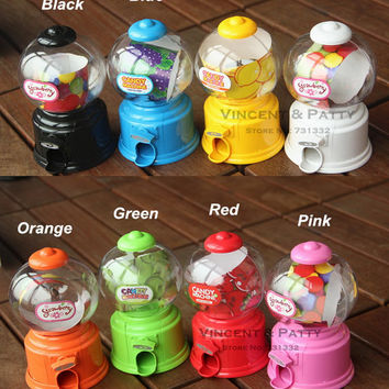 2016 Cute Sweets Mini Candy Machine Bubble Gumball Dispenser Coin Bank Kids Toy Worldwide sale Money Saving Box Baby Gift Toys