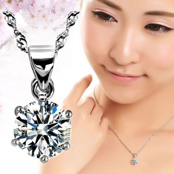 Silver Plated Hexagonal Snowflakes Shape Pendant Necklace Only Without Chain Jewelry Accessories