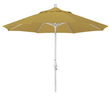 9 Foot Sunbrella 1A Fabric Aluminum Crank Lift Collar Tilt Patio Umbrella with Sand Pole