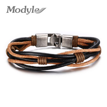 New Fashion Leather Bracelet Punk Jewelry Cuff Women/Men`s Casual Jewelry