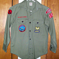 Child's Vintage Official Boy Scout Long Sleeve Shirt
