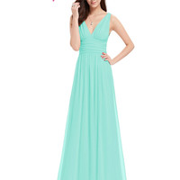 Formal Evening Dresses EP09016 2017 Ever-Pretty Hot Selling A line Double V Elegant New Fashion Long Maxi Evening Dress