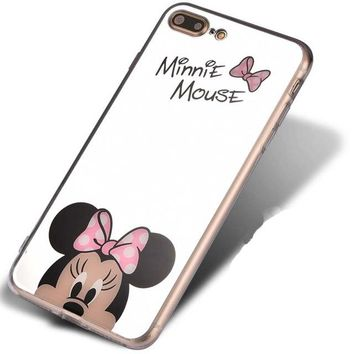 Cartoon Mickey Mouse Mirror Phone Cases for iPhone