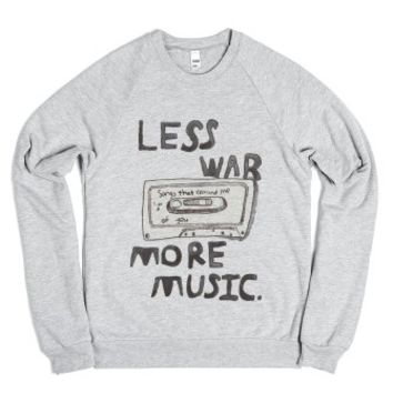 Less War // More Music (Sweater)-Unisex Heather Grey Sweatshirt