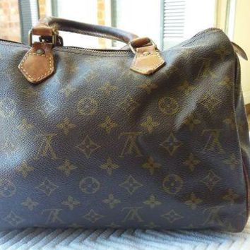 DCCKU7Q Louis Vuitton handbag Monogram Speedy 40 Authentic VIntage SA832 lockset
