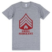 Grill Sergeant-Unisex Athletic Grey T-Shirt