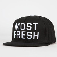 Neff Most Fresh Mens Snapback Hat Black One Size For Men 22059510001
