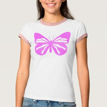 Butterfly Girl Ringer T-Shirt