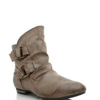 slouchy-ankle-boots BLACK GREY LTBROWN - GoJane.com