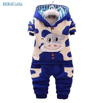 Winter Boys Clothing Sets Baby Boys Autumn Warm Clothes Suit Children Girls Hooded Sport Suit Kids Christmas Tracksuit