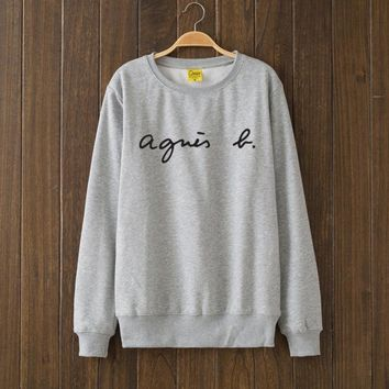 Agnes B Fashion Casual Top Sweater Pullover