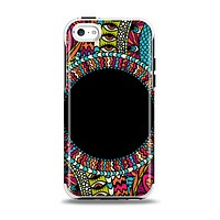 The Vector Colored Aztec Pattern WIth Black Connect Point Apple iPhone 5c Otterbox Symmetry Case Skin Set