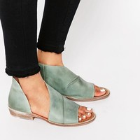 Free People Mont Blanc Mystic Blue Peep Toe Sandals at asos.com