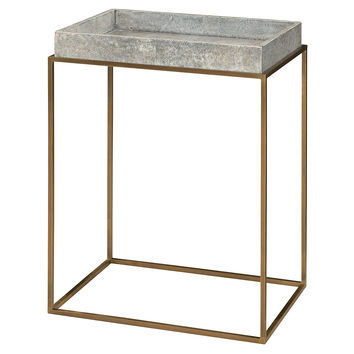 A La Carte Occasional Table, Gold/Smoke, Tray Tables