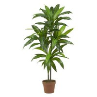 Nearly Natural Real Touch 48 in. H Green Dracaena Silk Plant 6585 at The Home Depot - Mobile