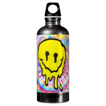 Trippy Melting Smiley Face Tie Dye SIGG Water