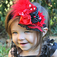 """Free Ship"" Red Minnie-Mickey Mouse Headband from CCandykidsClothing"