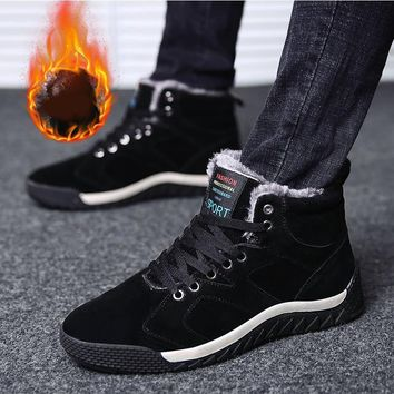 Winter Running shoes for Men Outdoor Newest Rubber Wear-resistant Medium cut Snow boots Waterproof Sneaker for Warm Women Men