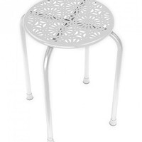 Dar Daisy Stackable Metal Stool White One Size For Women 27432115001